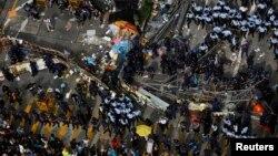 Pamje nga protestat sot në Hong Kong.