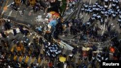 Операция по сносу баррикад в Монг-Коке. 26 ноября 2014