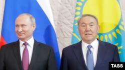 Назарбаев пен Путин Сочиде Еуразия экономика одағының саммитін алдында. 14 мамыр 2018 жыл.