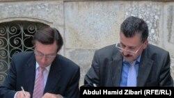 مراسم توقيع إتفاق ترميم دار أثرية في قلعة أربيل