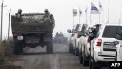 Ուկրաինա - ԵԱՀԿ դիտորդները հետևում են զորքերի դուրսբերմանը առաջնագծից, Դոնեցկի տարածաշրջան, 9-ը նոյեմբերի, 2019թ․