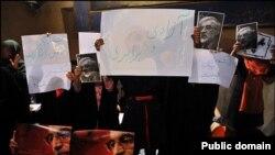 مراسم سخنرانی حسن روحانی در حسینیه جماران (عکس از کلمه)