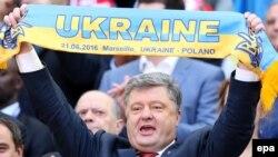 Президент України Петро Порошенко на матчі збірної України з футболу