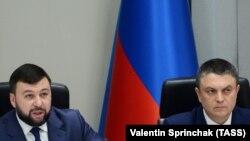 Главарь группировки «ДНР» Денис Пушилин и главарь группировки «ЛНР» Леонид Пасечник