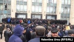 Protestul veteranilor de la Nistru la guvern