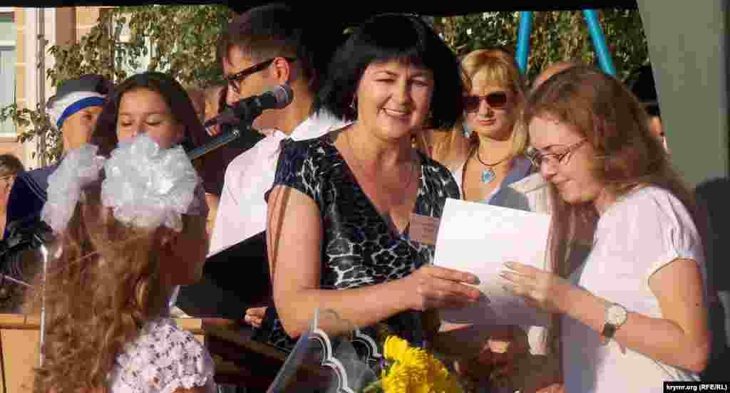 Директор Украинской школы-гимназии в Симферополе Валентина Лаврик
