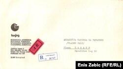 Koverta u kojoj je stigla suspenzija