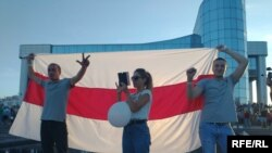 Жители Жлобина протестуют против сфальсифицированных итогов выборов, 14 августа 2020