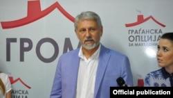 Стевчо Јакимовски, претседател на ГРОМ - Граѓанска опција за Македонија.