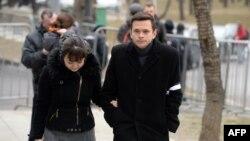 Илья Яшин у Сахаровского центра в Москве, где состоялась гражданская панихида по Борису Немцову