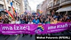Первое шествие активистов ЛГБТ-сообщества в Сараеве, 8 сентября 2019