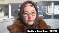 Хадиша Карибаева, пенсионерка из Тараза. Астана, 25 февраля 2013 года.