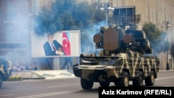 Azerbaijan -- A military parade in Baku , 26Jun2013.