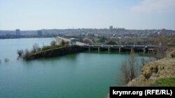 Гребля Сімферопольського водосховища, 30 березня 2017 року