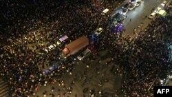 Шанхай, 1 января 2015 года, место гибели 35 человек в новогоднюю ночь