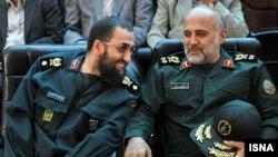 غلامعلی رشید (راست)؛ جانشین ستادکل نیروهای مسلح ایران