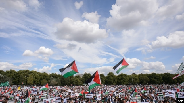 Tens of thousands of pro-Palestinian demonstrators held mass rallies in London throughout the month of August.