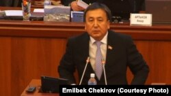Асилбек Жээнбеков қирғиз парламенти раислигига сайланди.