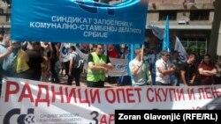 Protest u Beogradu protiv zakona o radu
