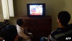 Мушарраф дает интервью частному ТВ каналу. Карачи
