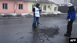 Наблюдатели миссии ОБСЕ на востоке Украины