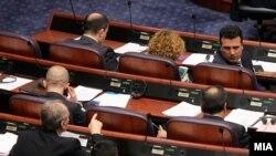 Архивска фотографија- премиерот Заев на собраниска седница за пратенички прашања