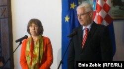 Catherine Ashton i Ivo Josipović, Zagreb, 16. svibnja 2013.