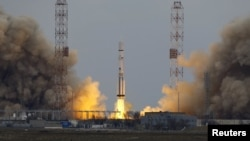 "The Proton-M rocket was ""successfully launched"" from the Russian-leased Baikonur Cosmodrome in southern Kazakhstan."