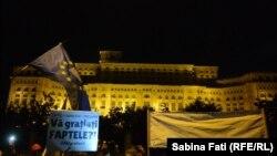 La protestul de duminică seara la București