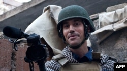U.S. freelance reporter James Foley in Aleppo, Syria in November 2012