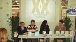 Sa promocije knjiga pisaca iz Dijaspore na Sajmu knjige u Sarajevu, april 2008, Foto: Gordana Sandić Hadžihasanović