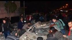 تشييع جنازة ضحايا تفجير المنصورة