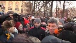 Борис Немцов и Владимир Рыжков на акции 15 декабря