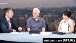 Վահագն Լալայանը և Վահագն Խաչատրյանը «Ազատության» տաղավարում, 15-ը սեպտեմբերի, 2017 թ․
