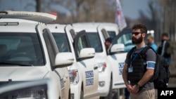 Спостерігачі ОБСЄ на Донбасі, квітень 2015 року