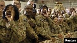 Ushtarët amerikanë në bazën Bagram në Afganistan