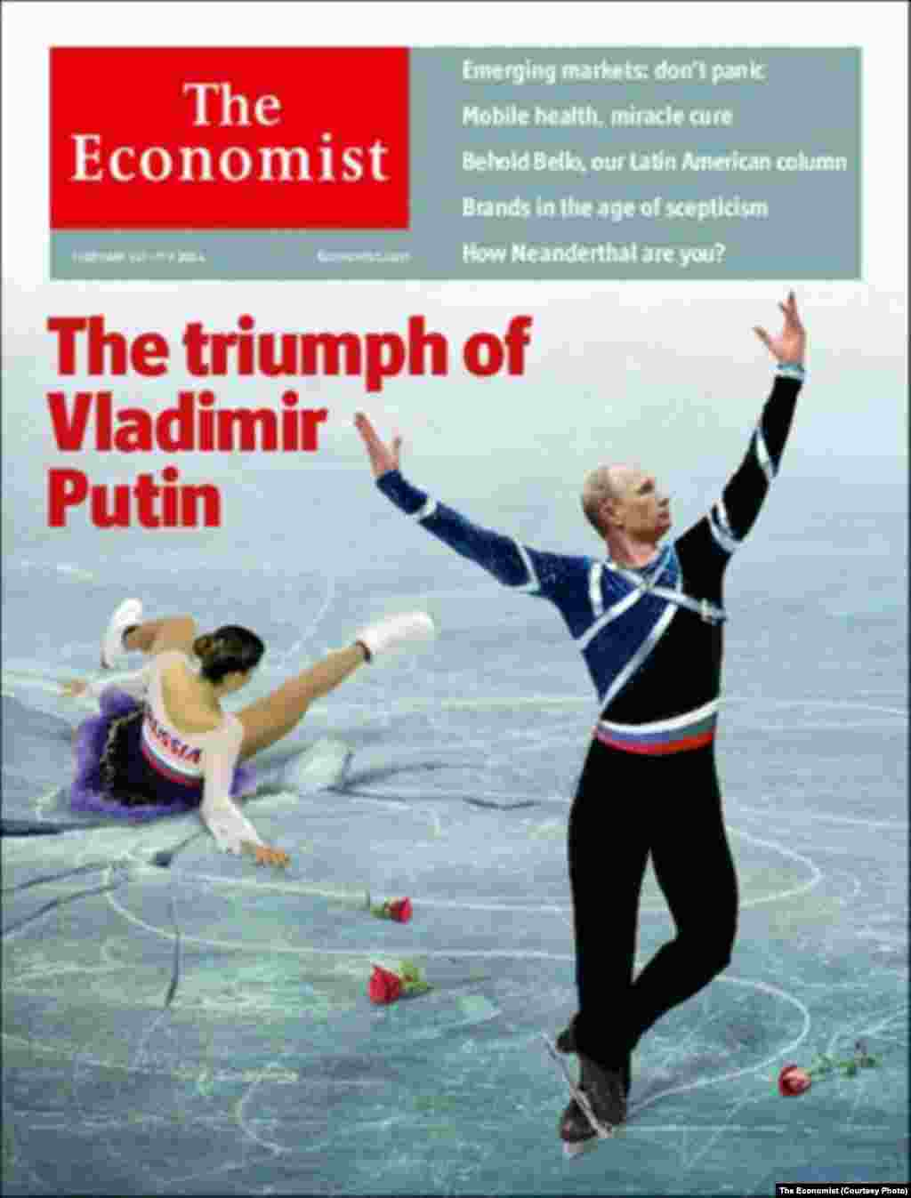 """The Economist"" focuses on a country ""in deepening trouble"" even as Putin seeks to make it shine during the Olympics."