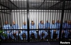 Подсудимые перед вынесением приговора. Триполи, 28 июля 2015 года