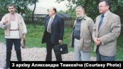 З Станіславам Шушкевічам і Юр'ем Хадыкам у Заслаўі