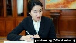 Индира Джолдубаева в бытность генеральным прокурором Кыргызстана.