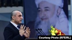 د افغانستان جمهور رئیس لومړی مرستیال امرالله صالح د مارشال محمد قسیم فهیم د مړینې د اووم تلین په مناسبت جوړه شوې غونډه کې د وینا پر مهال