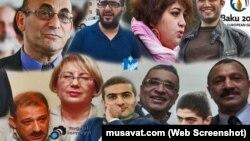 Ադրբեջանի քաղբանտարկյալները, արտապատկերում musavat.com կայքից