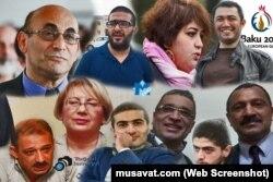 Həbsdə olan jurnalist, ictimai fəal və siyasətçilər