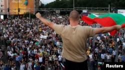 Акция протеста в Софии, 16 июля 2013 года.