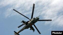 Вертолет Mi-24, принадлежащий армянской армии. Иллюстративное фото.