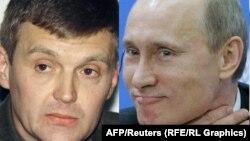 Александр Литвиненко (слева) был уволен из ФСБ после передачи руководителю ФСБ (в те годы) Владимиру Путину материалов по узбекской группировке.