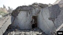 ستاد حماس در غزه هدف بمباران ارتش اسرائيل قرار گرفت.