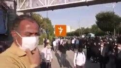 دومین روز از تجمع کارگران مخابرات روستایی، مقابل مجلس، ۱۷ شهریور ۱۳۹۹
