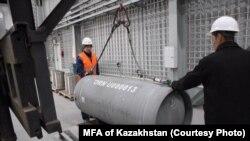 МАГАТЭ-нің аз байытылған уран банкіне алғашқы уран қоры жеткізілді.. Өскемен, 17 қазан 2019 жыл.