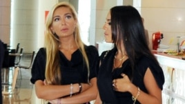 Arzu (left) and Leyla Aliyeva, daughters of the president, have owned offshore companies since at least 2008.